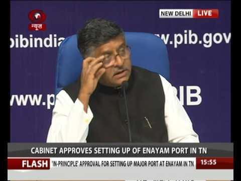 Union Minister Ravi Shankar Prasad addresses Cabinet briefing