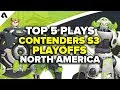 Top 5 Overwatch Contenders S3 Playoff Plays - North America