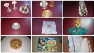 Puja utensils   Puja items list Telugu and English   Hindu Pooja Samagri   all Puja items