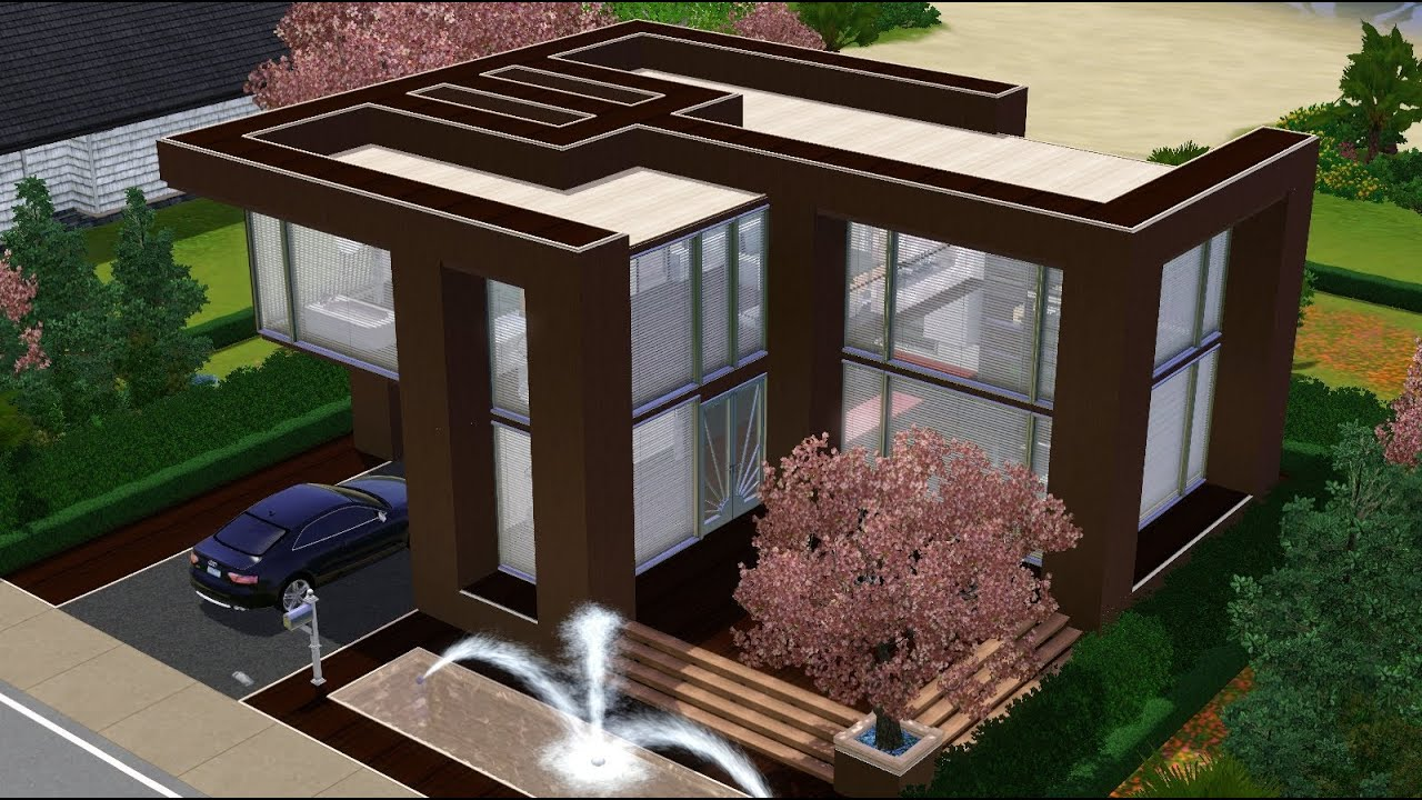 The Sims 3 House Simple Modern 1br Home YouTube