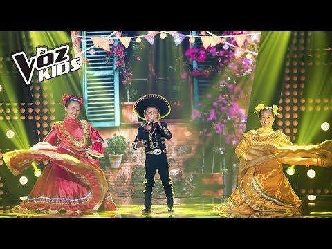 David Tarapues canta Allá en el Rancho Grande | La Voz Kids Colombia 2018