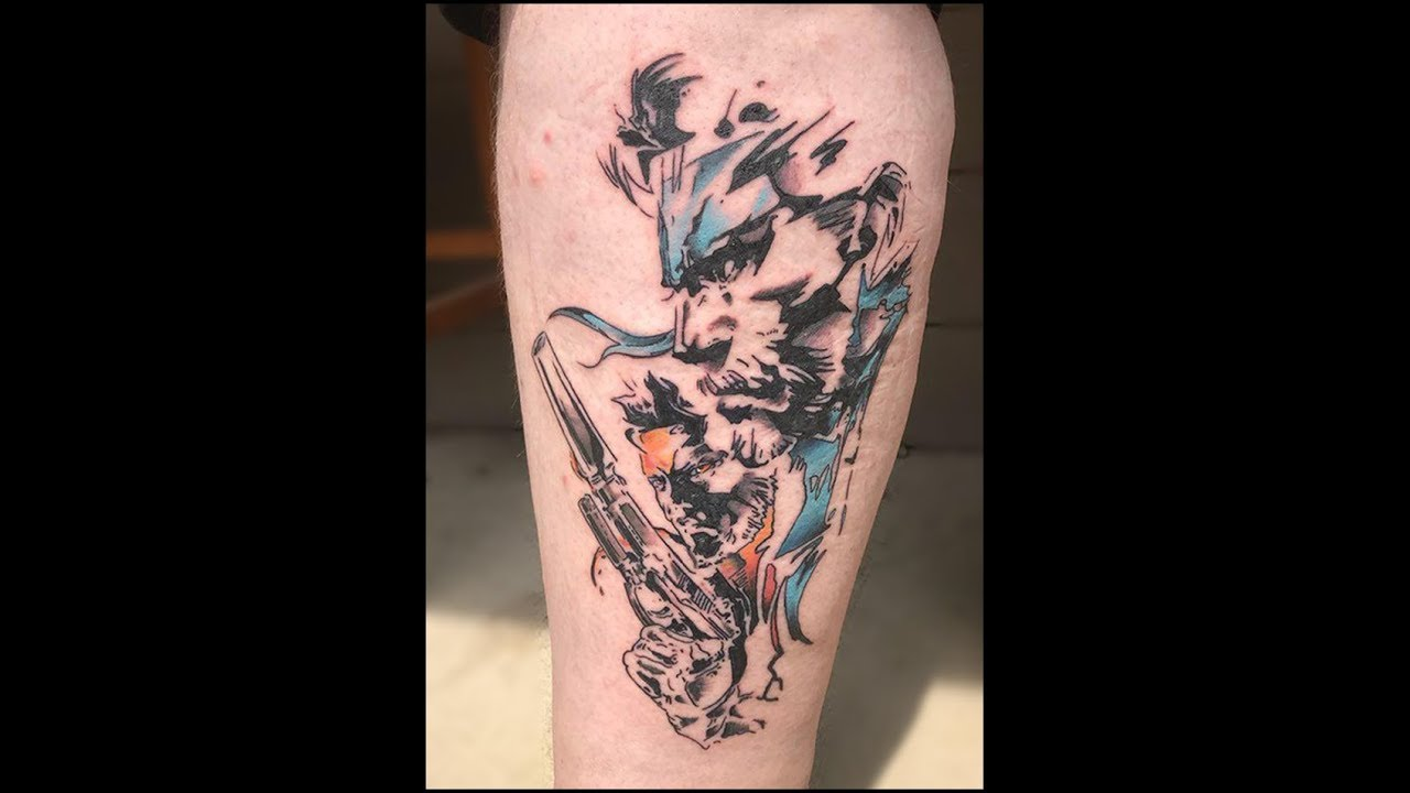 Metal Gear Solid Tattoo Timelapse Youtube