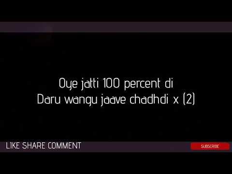 100 PERCENT LYRICS – Garry Sandhu   Tory...