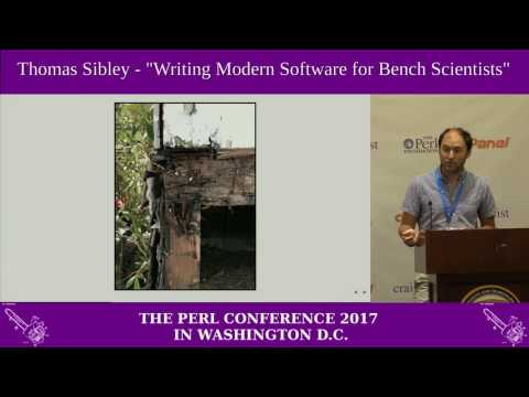 "Thomas Sibley - ""Last mile software development: writing modern software for bench scientists"""