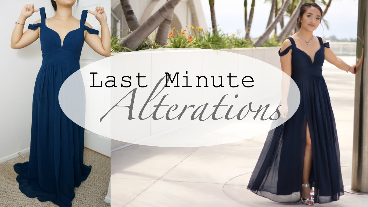 Prom Dress Alterations (Quick Fixes) - YouTube