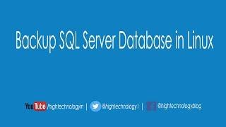 How to Take Backup of SQL Server Database on Linux | Backup SQL server database in linux