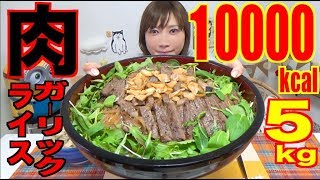 【MUKBANG】 [Shimane Beef] Ultra Luxurious!! Sirloin Steak With Garlic Rice Bowl!! [CC Available]