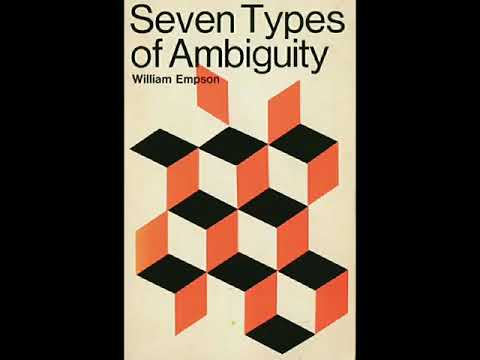 Seven Types Of Ambiguity By William Empson.