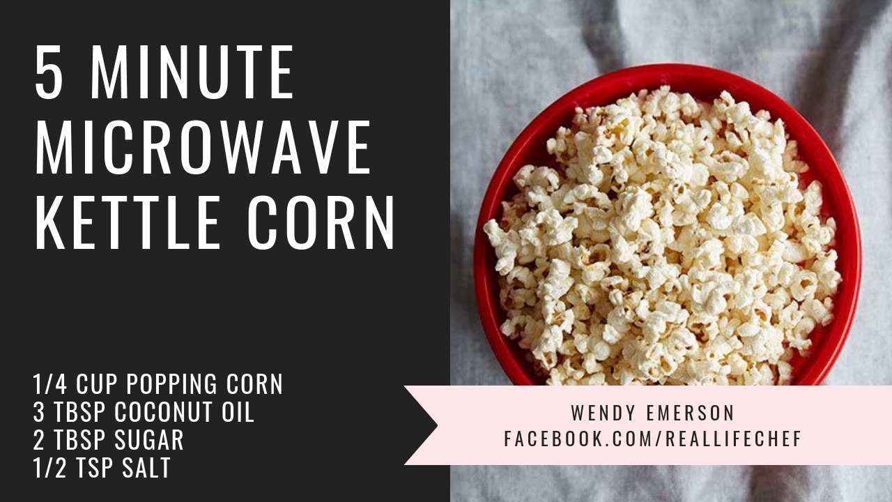 5 minute kettle corn microwave a la pampered chef