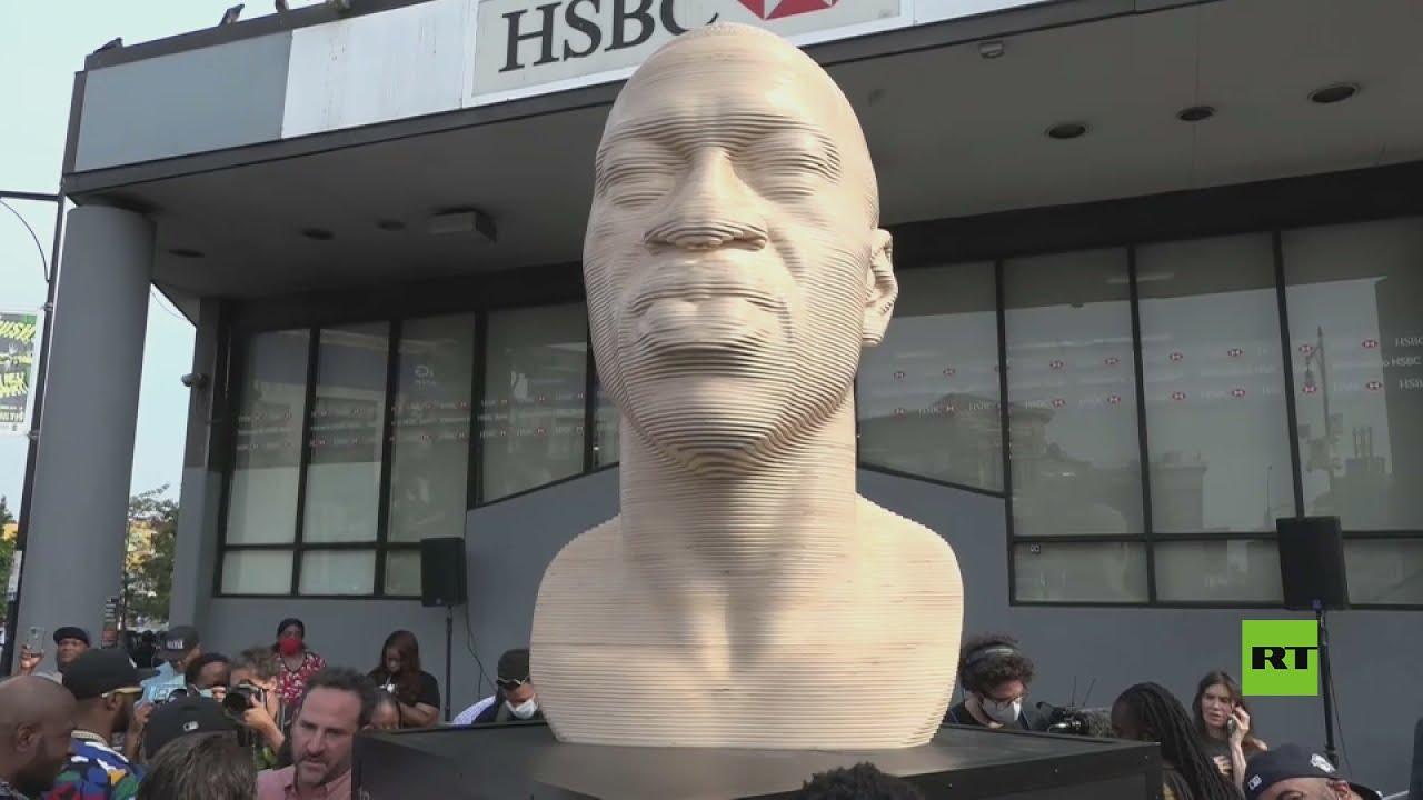 بالفيديو.. تدشين نصب جورج فلويد في نيويورك  - نشر قبل 2 ساعة