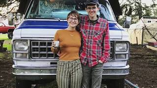 Couple Turn Old Shuttle Bus into their Rolling Tiny Home