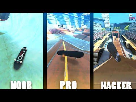 Noob Vs Pro Vs Hacker | True Skate