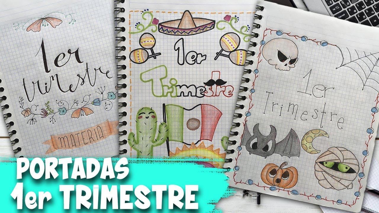 Portadas Fáciles Y Bonitas Parte 7 Portadas 1er Trimestre