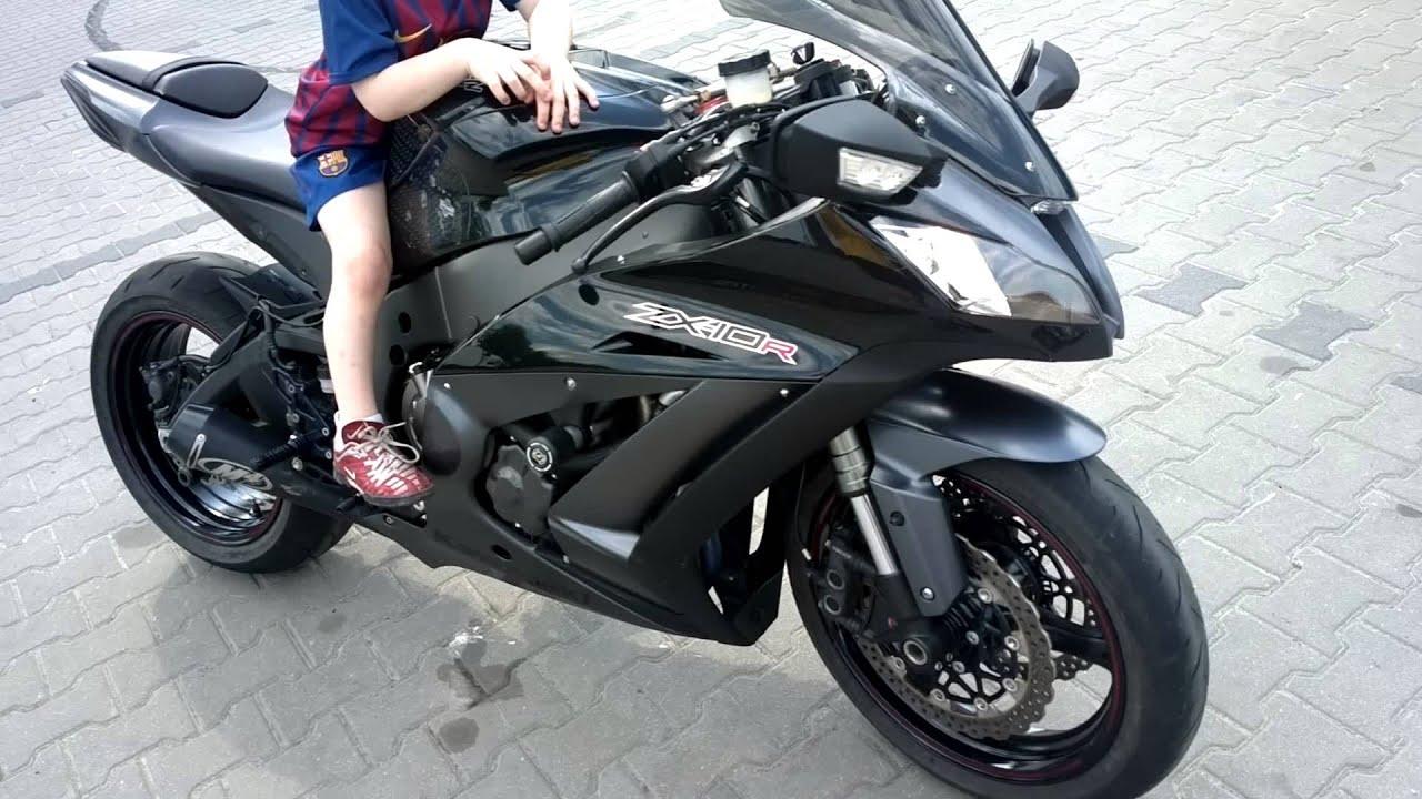 2012 Black Kawasaki Zx10r Full Exhaust M4 Gp Zx 10 R Youtube
