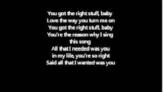 The right stuff lyrics- NKOTB