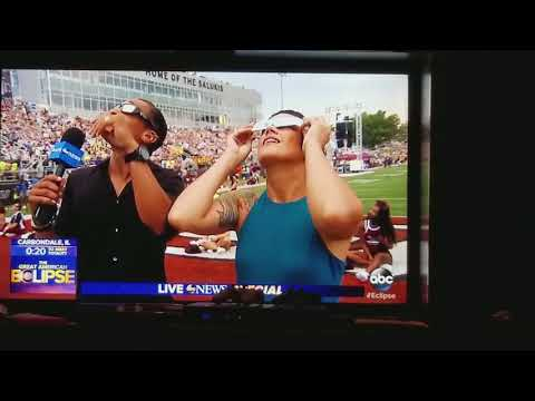 Watching Eclipse in Carbondale, Illinois on Good Morning America