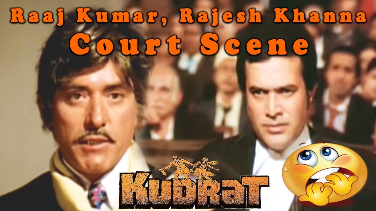 Rajesh Khanna, Raaj Kumar Court Scene from Kudrat || Hindi Drama Movie