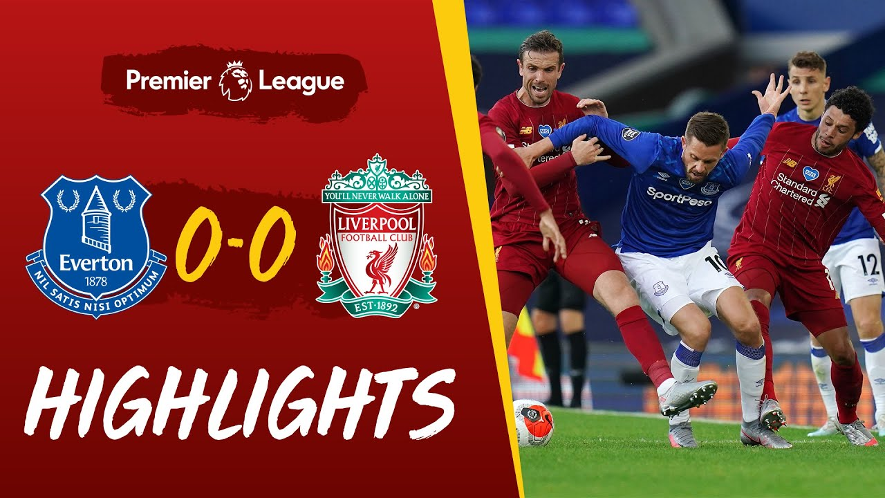Highlights Everton 0 0 Liverpool Stalemate At Goodison Authentic Stadium Audio Youtube