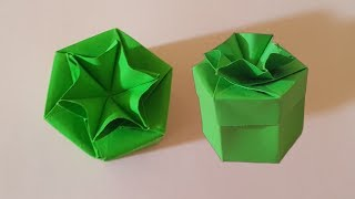 DlY paper origami gift box របៀបត់ប្រអប់ស្អាតៗ