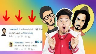 bb ki vines & carryminati commented on my Q&A video || Q&A with Yoshabji episode 1