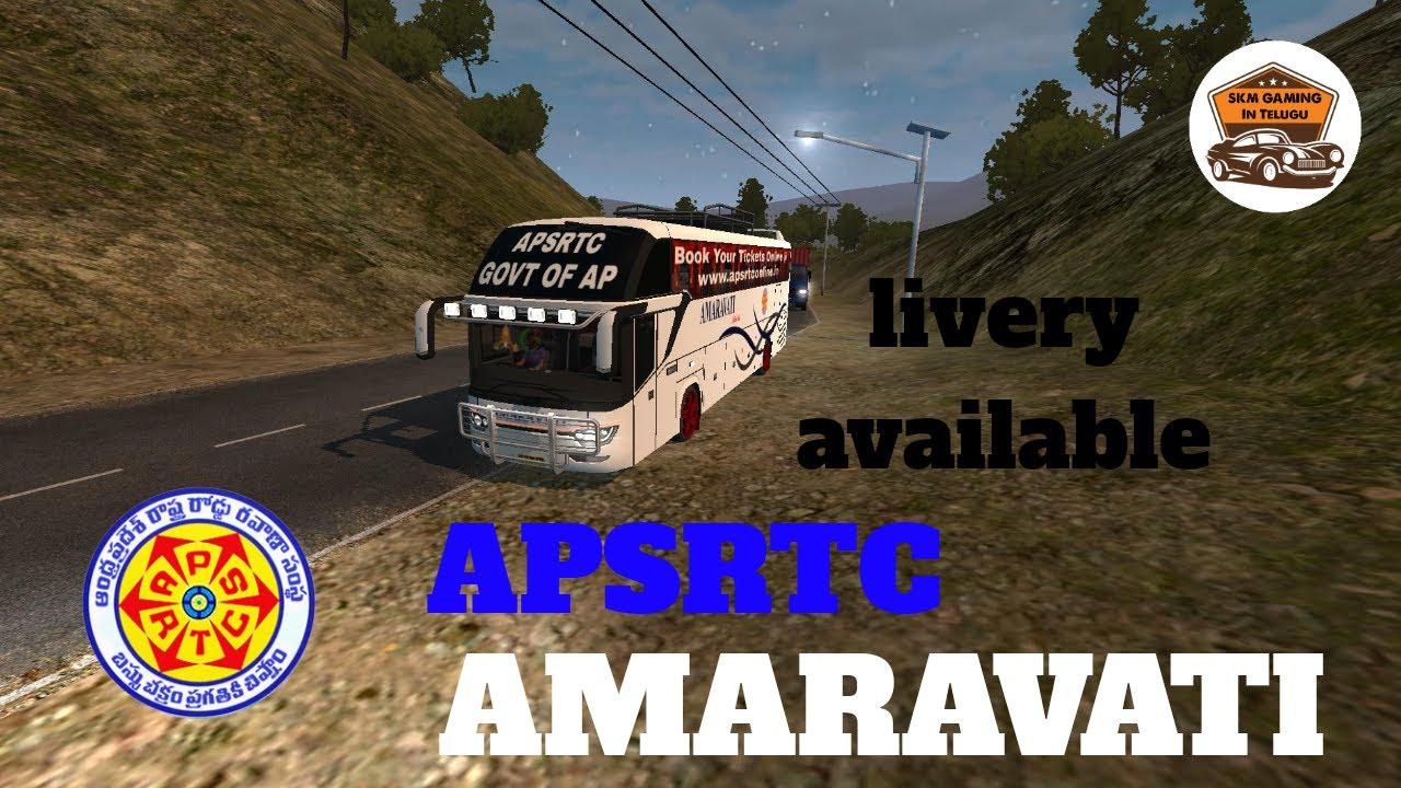 APSRTC Amaravati Govt Of AP Bus in bussid | In Telugu | BY:-SKM
