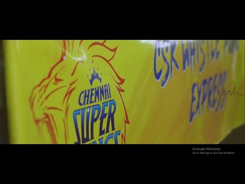 Whistle podu Express - CSK - World's first train full of Cricket fans in yellow shirts .