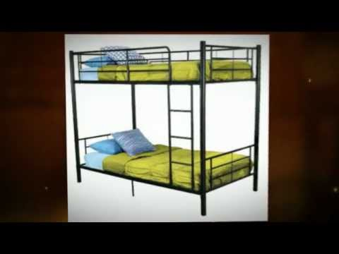 bd90ad9fd02f Walker Edison Twin Over Twin Bunk Bed - YouTube