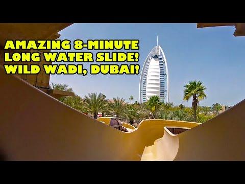 Wild Wadi's AMAZING 8 Minute Long Master Blaster Water Slide Dubai UAE