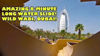 Wild Wadi's AMAZING 8 Minute Long Master Blaster Water Slide Dubai UAE