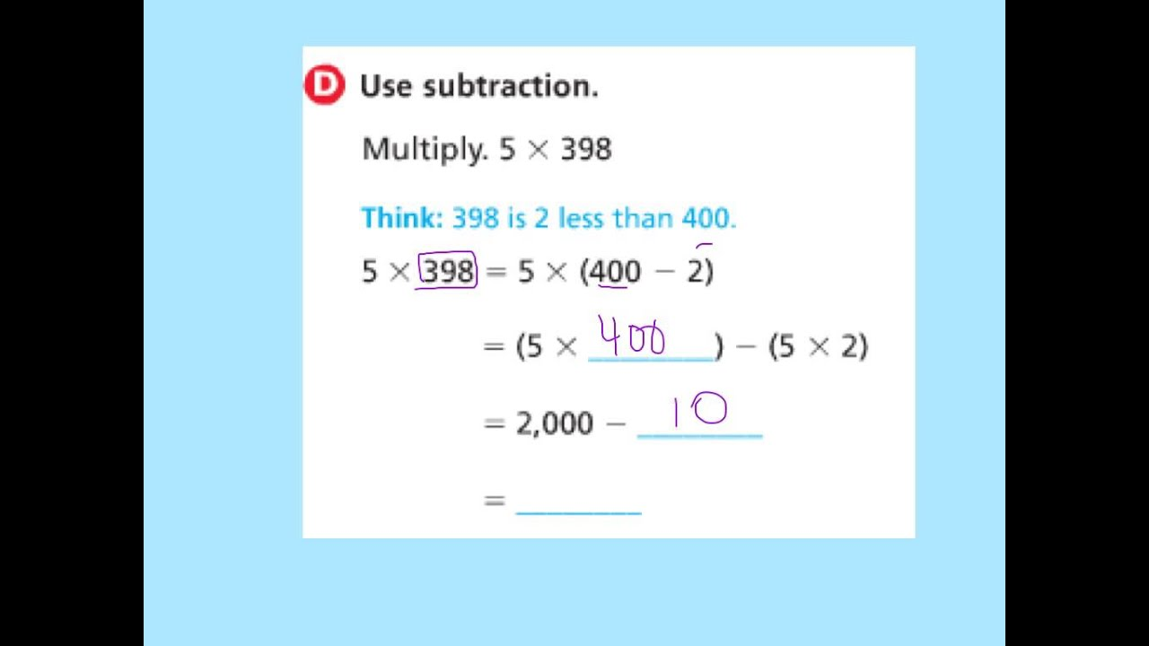 4th 2.8 Multiply Using Mental Math video - YouTube