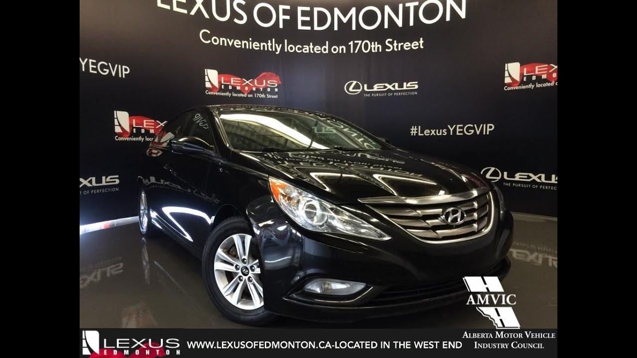 Used 2013 Black Hyundai Sonata 2.4L Auto GLS Walkaround Review Lacombe  Alberta