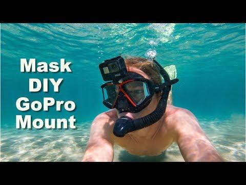 GoPro DIY Mount On Underwater Mask! - GoPro Tip #652 | MicBergsma