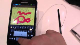 Samsung Galaxy Note Hands On - Galaxy Note Preview