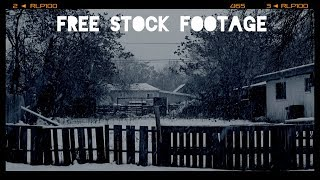 'BACK ALLEY SNOWSTORM'  Free Stock Footage