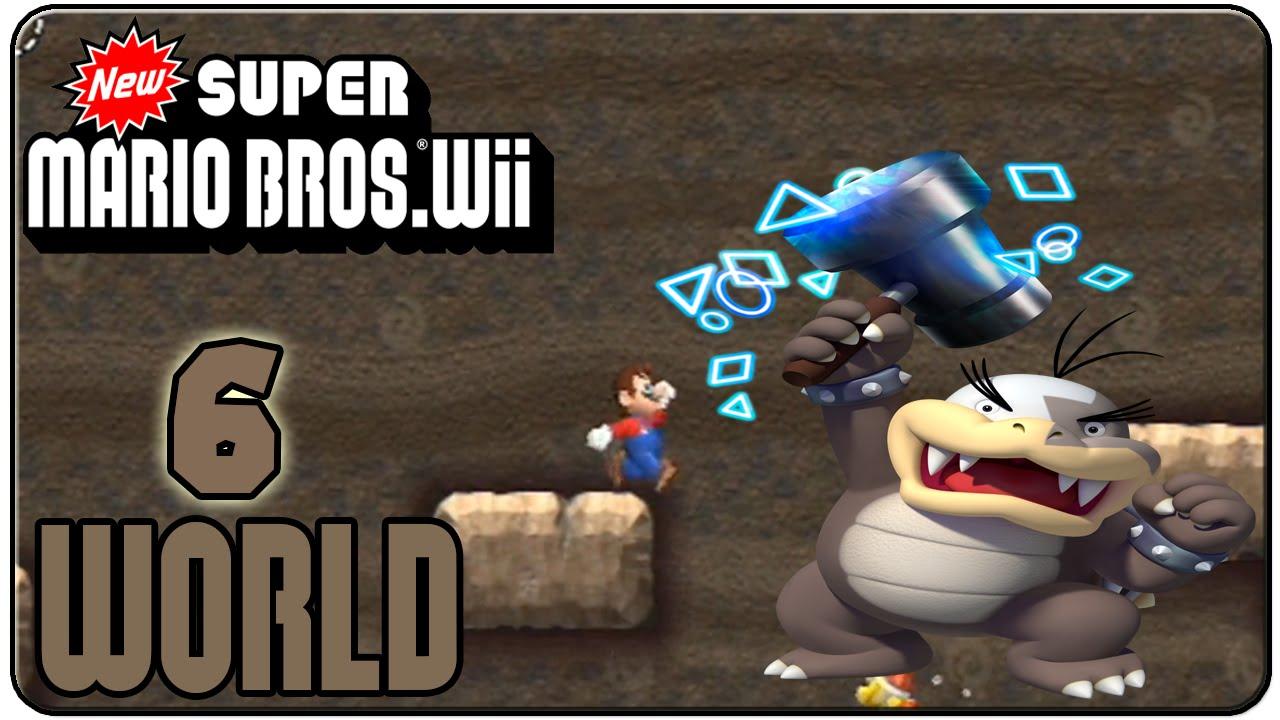 New Super Mario Bros Wii 100 Walkthrough World 6 Youtube
