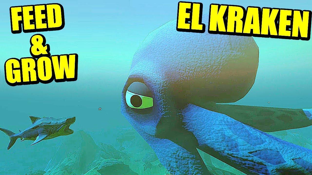 MANEJANDO AL KRAKEN - FEED AND GROW FISH   Gameplay Español