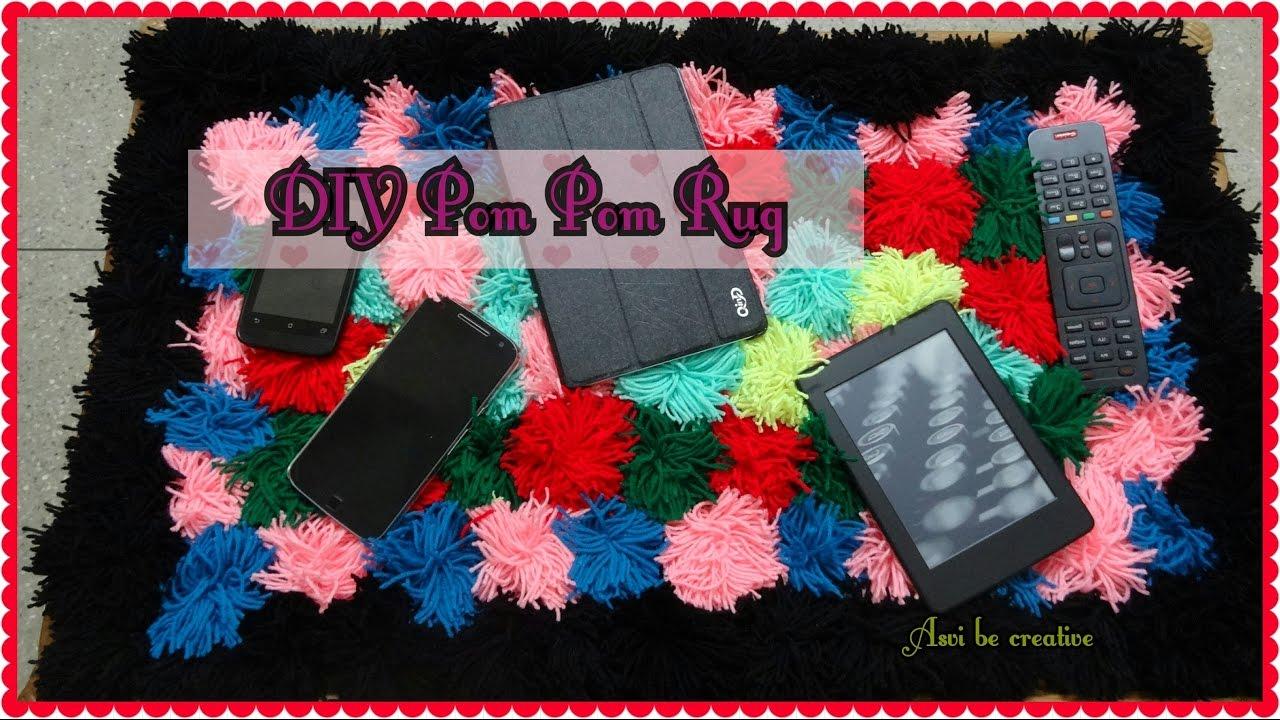 Diy pom pom rug how to make pom pom easy room decor youtube for Pom pom room decor