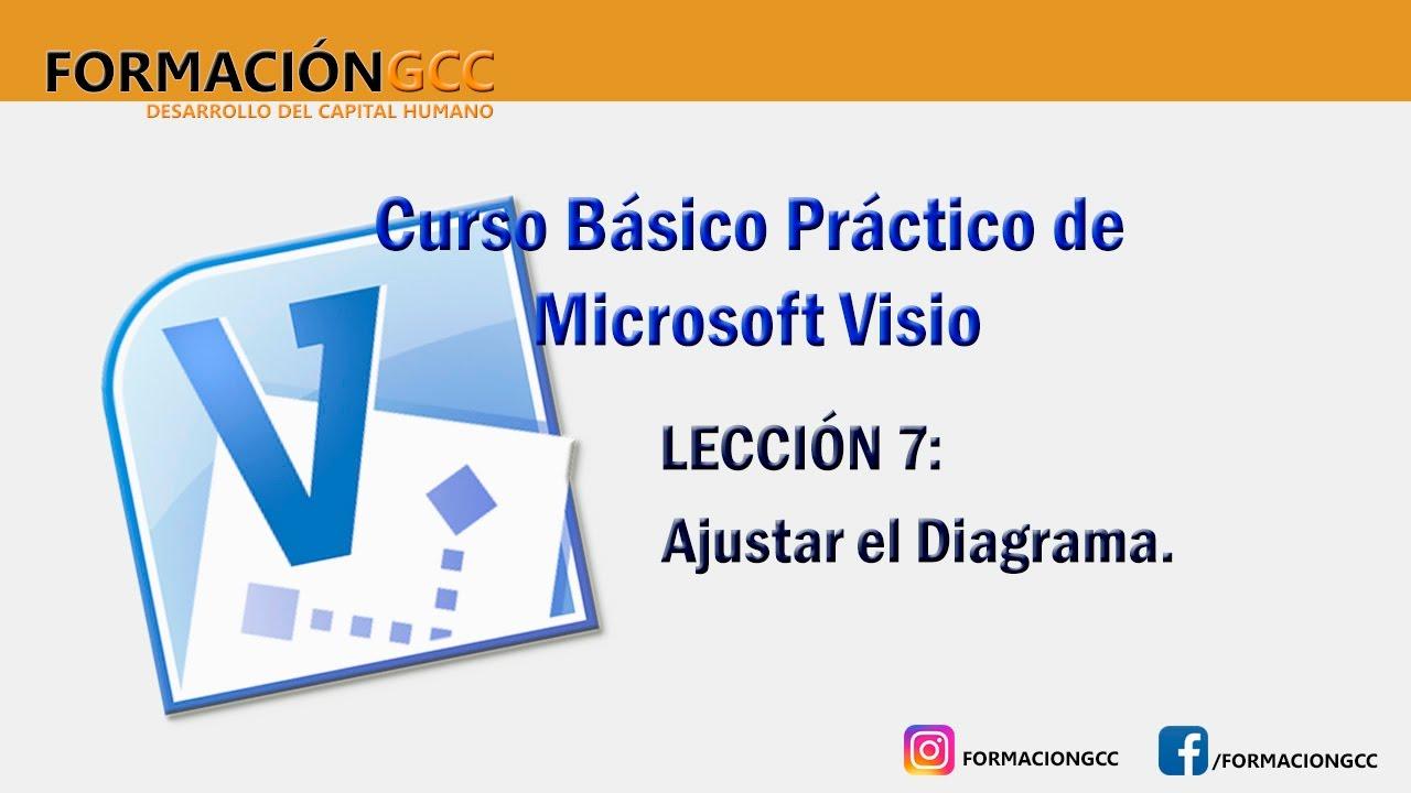 Curso de Microsoft Visio Lección 7 Ajustar el Diagrama - YouTube