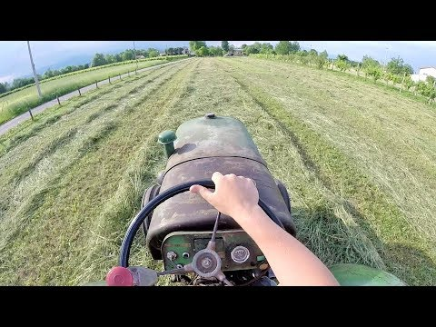 Let's Drive | Steyr Model 180 - 30 hp - Old Tractor from Year 1952 | Raking Hay