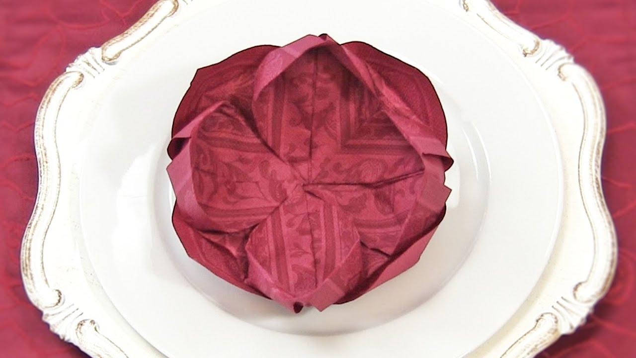 Servietten Falten Lotusblüte : servietten falten lotusbl te anleitung lotusbl te aus serviette falten youtube ~ Watch28wear.com Haus und Dekorationen
