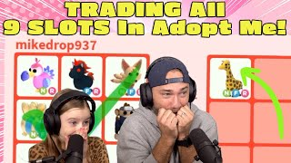 Trading ALL 9 Slots in Roblox Adopt Me!!
