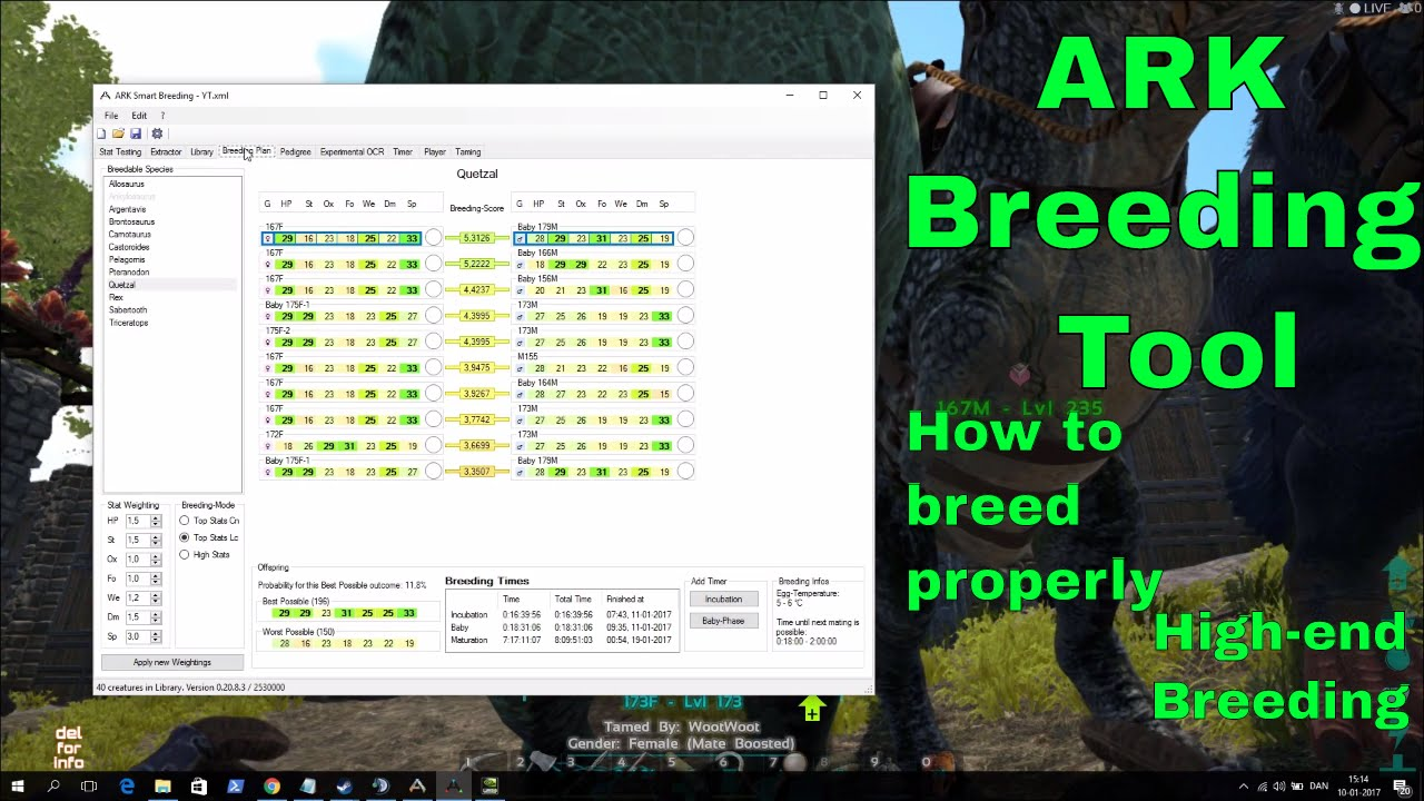 ARK SMART BREEDING program/tool - How to breed properly for high end dinos