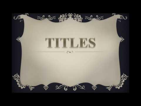 Titles: Branding Your Essay