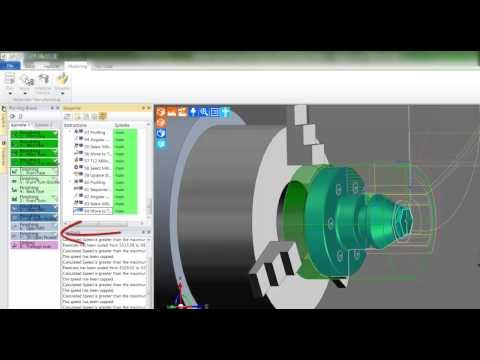 5a. Edgecam TestDrive tutorial - Machining in workflow turning