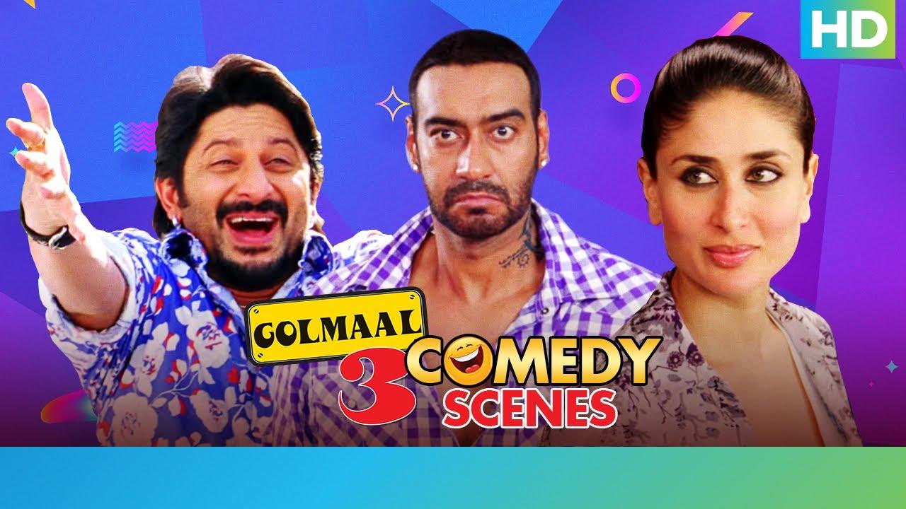 Download Golmaal 3  - Part 1 - Best Comedy Scenes   Ajay Devgan, Kareena Kapoor, Arshad Warsi, Tusshar Kapoor