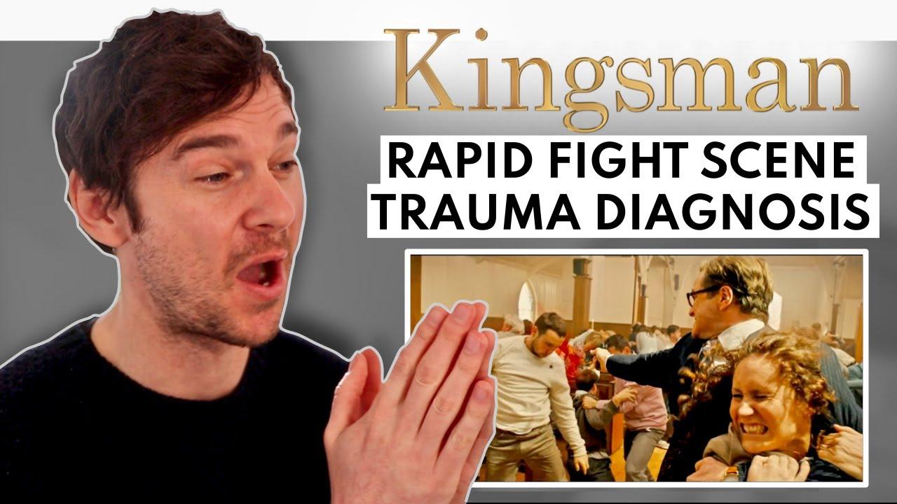 Doctor Breaks Down KINGSMAN CHURCH SCENE // Rapid Fight Scene Trauma Diagnosis
