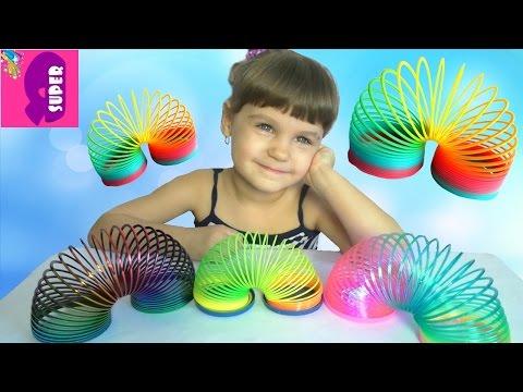 Радуга Пружинки Веселая игра Rainbow Pruzhinki fun game