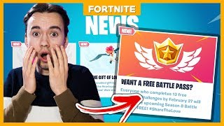 HOW TO GET THE SEASON 8 BATTLE PASS FOR FREE!! -Fortnite