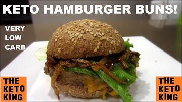 Keto Hamburger Buns! | Low Carb Hamburger Buns | AMAZING!