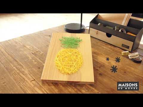 How to make pineapple wall art | Maisons du Monde